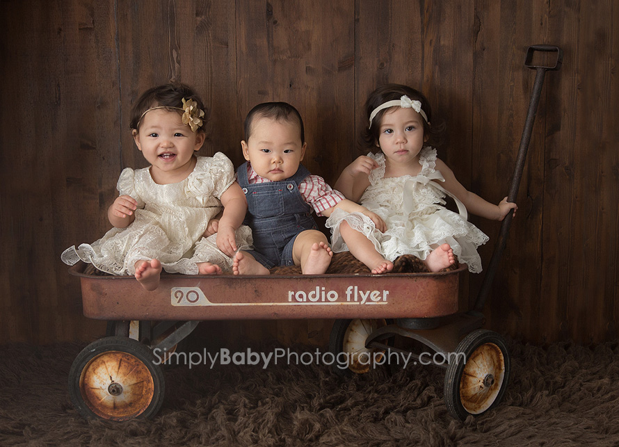 Not quite triplets baby portrait hawaii