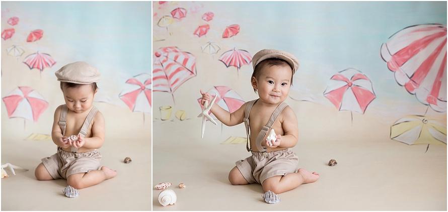 first birthday photography baby boy