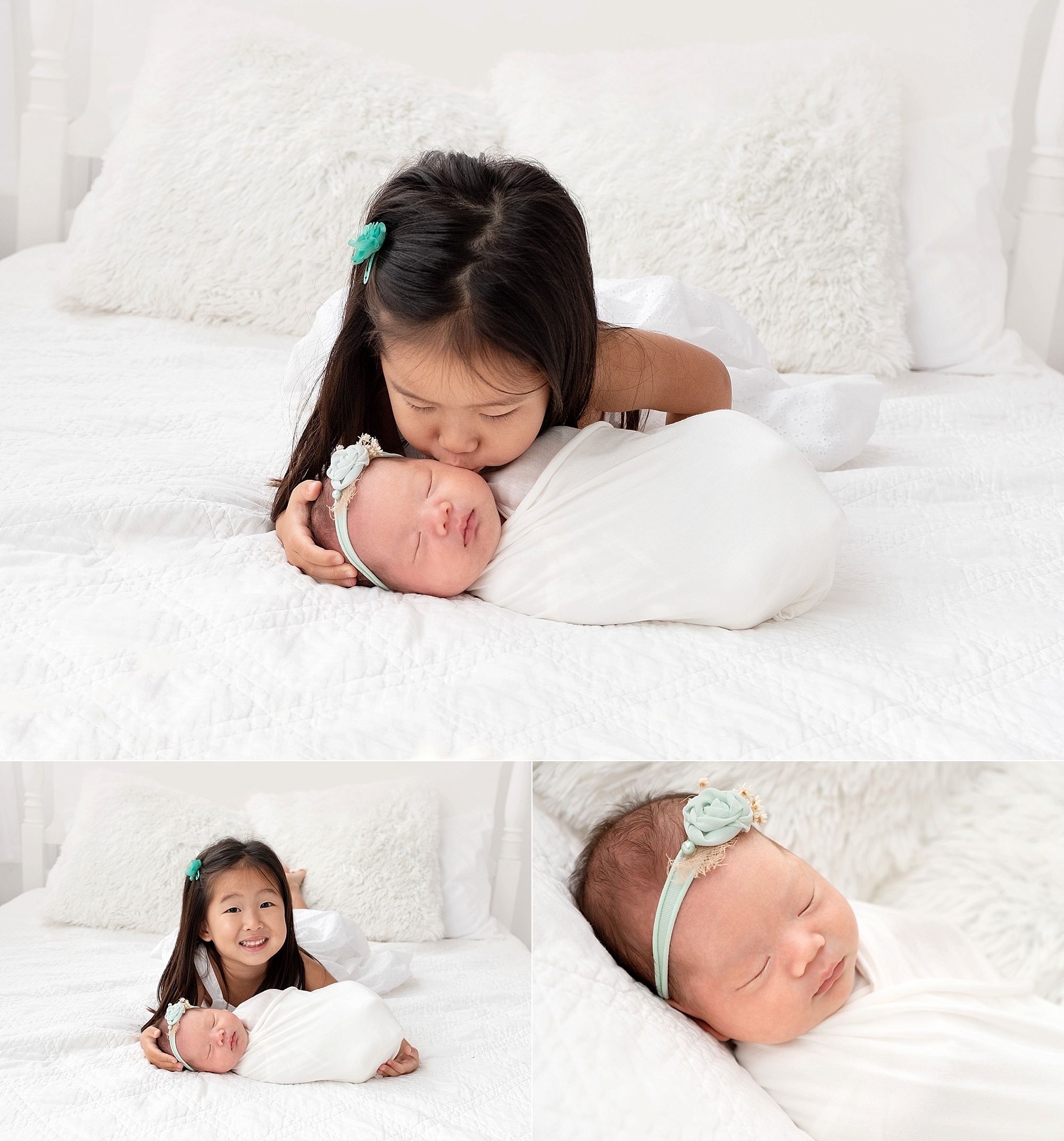 Isabelles sibling newborn session kailua hawaii newborn and family photographer