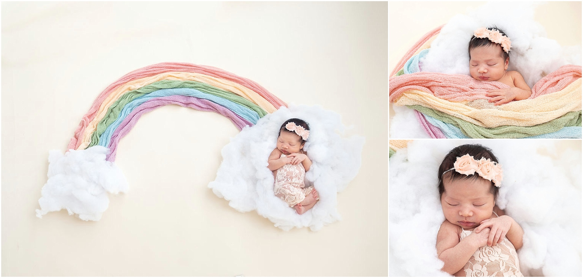 Baby h is her familys rainbow the ray of sunshine through the clouds her big brother and big sister adore her already and by how much she smiled during